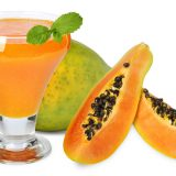 Göbek eriten papaya smoothie'si