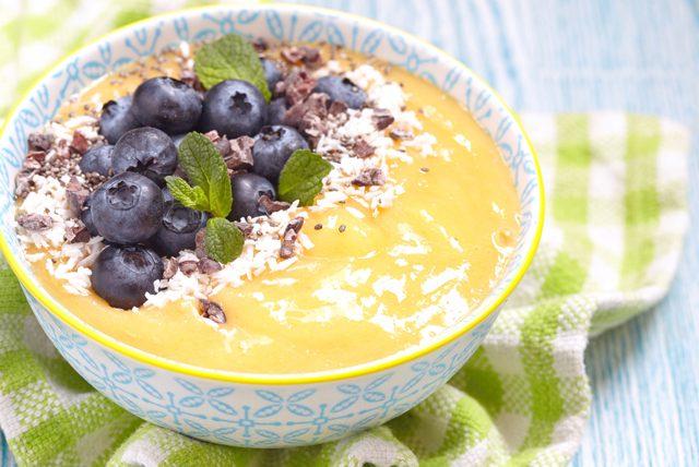 tok tutan. enerji veren ve zayıflatan sabah kahvaltısı,mango