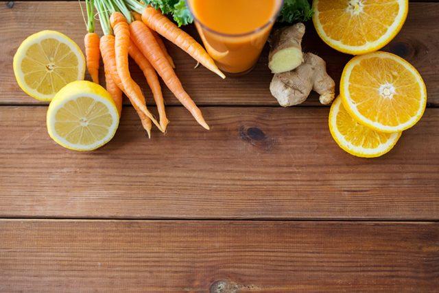 Metabolizma hızlandıran portakallı zencefilli içecek
